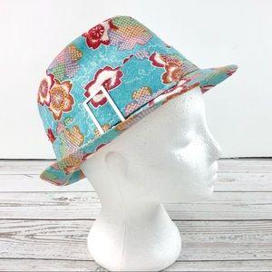 Multicolour Hawaiian fedora hat